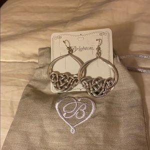 Brighton Silver Interlock style earrings